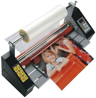 17.3 A2 Hot Cold Roll Laminator Doubel Side Thermal Laminating Machine 110v