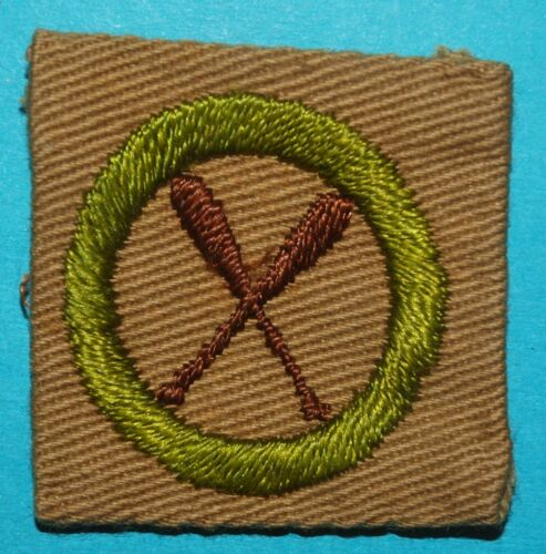 CANOEING TYPE A MERIT BADGE * FULL SQUARE *  - NICE -  BOY SCOUTS  H426