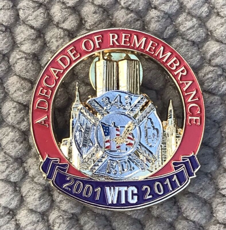"WTC 343 FD Ten Year Anniversary 1 1/2"" Pin"