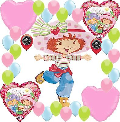 Strawberry Shortcake Party Supplies Birthday Balloon Decoration Bundle (XL - Strawberry Party Supplies
