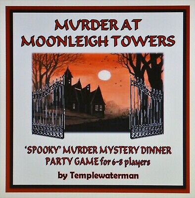 HOST A 'SPOOKY' MURDER MYSTERY DINNER PARTY GAME - for 6-8 (+1) players