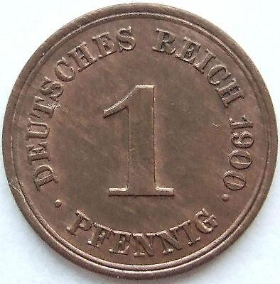 TOP! 1 Pf 1900 E in BANKFRISCH / STEMPELGLANZ SELTEN !!!