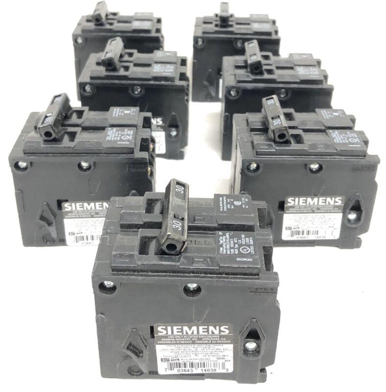 7 Siemens Q230 Circuit Breakers New Open Box 30A 60 Hz 120/240V 2-Pole