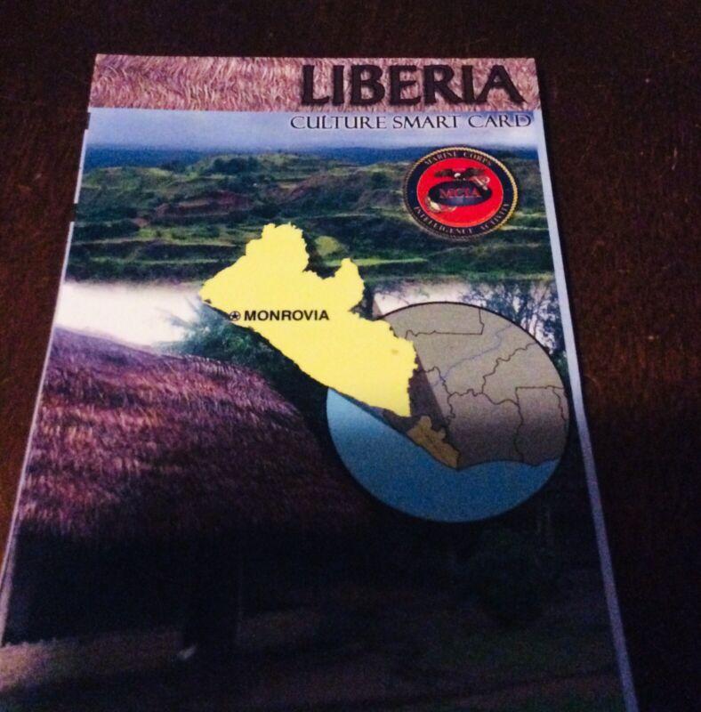 US Army USMC Liberia Cultural Smart Card