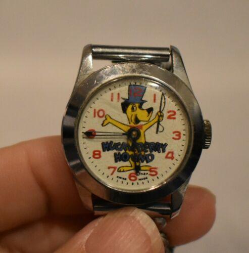 Vintage HANNA BARBERA HUCKLEBERRY HOUND Mechanical Swiss Watch 1960s AS IS
