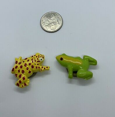 Vintage Buttons Covers Tree Toad Frog Buttons Hand Painted cute Collectible Rare