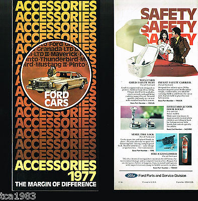 Brochure Catalog Guide - 1977 FORD OPTIONS / Accessories Guide Brochure / Catalog: Mustang,Wheels,LTD,'77