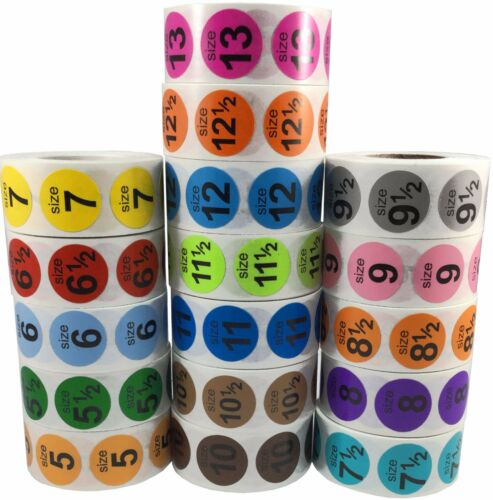 """Shoe Size Stickers 