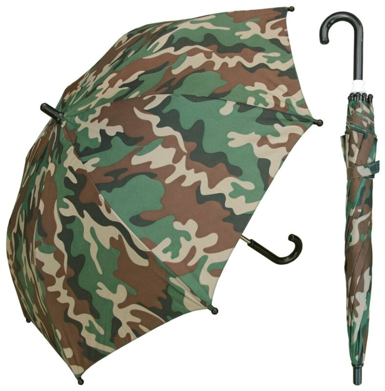 "32"" Arc Children Kid Camo Print Umbrella - RainStoppers Rain/Sun UV"