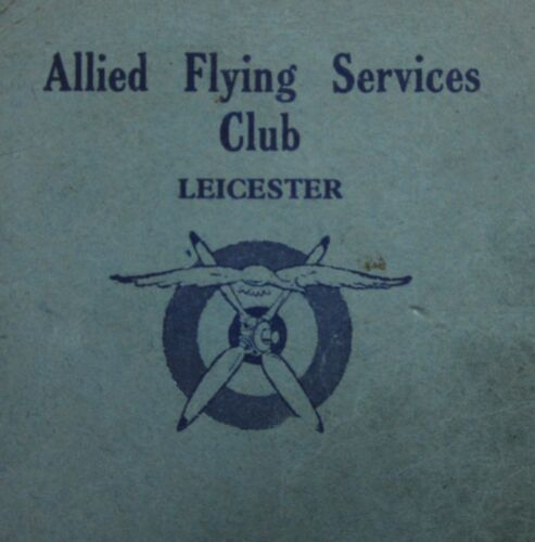 Vintage British RAF Allied Flying Club Leicester England Membership 1940-50