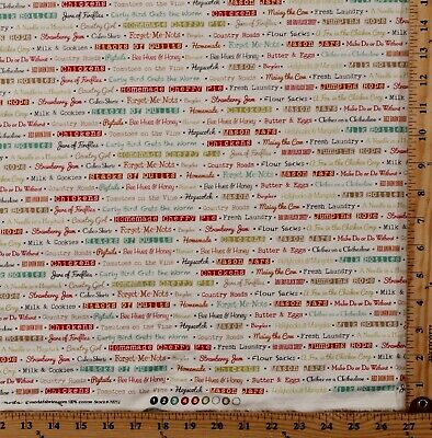 Cotton Farmhouse Kitchen Hobby Farm Country Fabric by the Yard M704.31