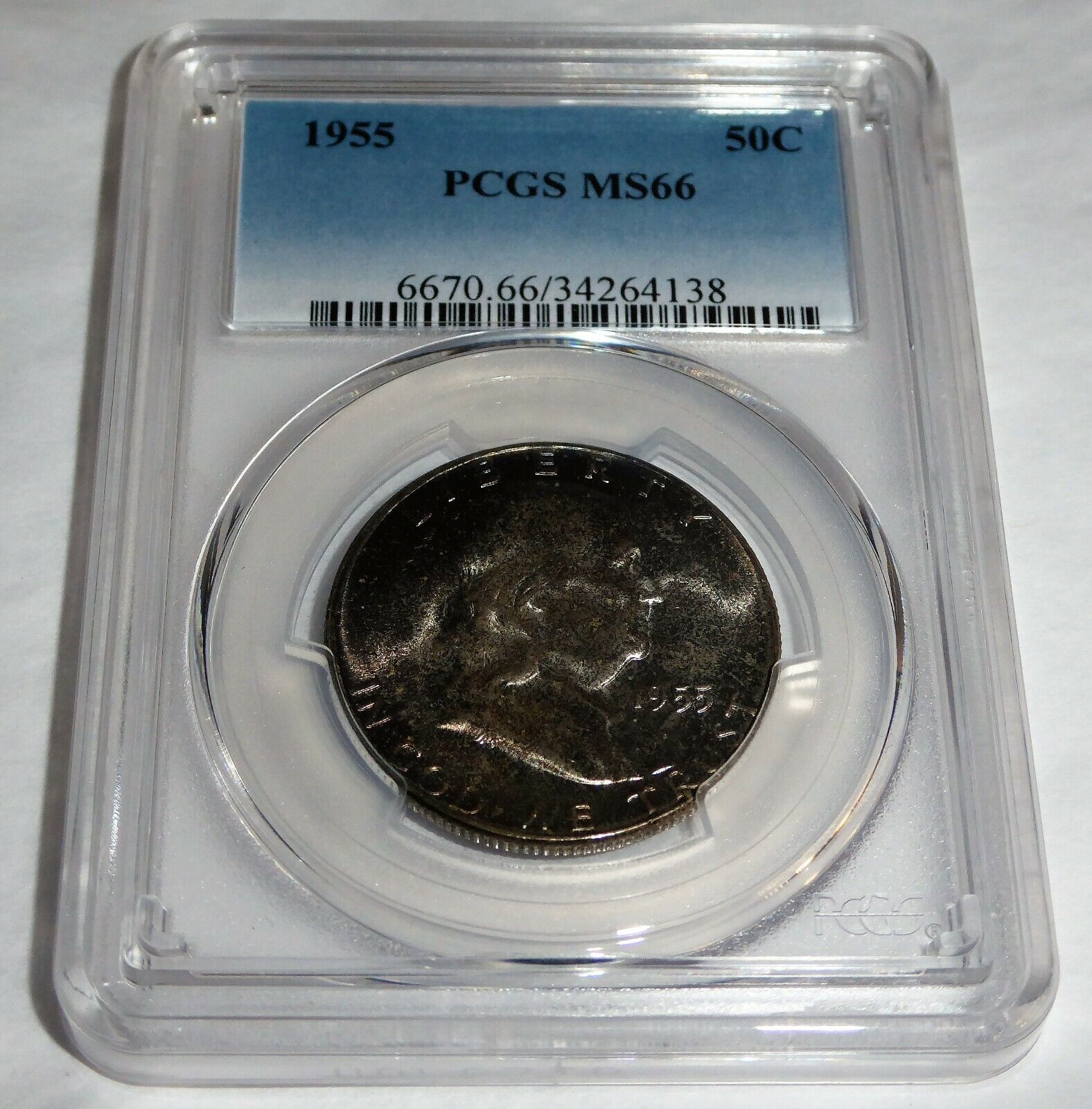1955 50C PCGS MS66 Franklin Half Dollar 50 Cent Coin 💎