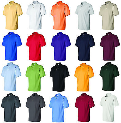 Gildan Shirts  Mens Ultra Cotton Ringspun Pique Sport Shirt Polo Tee S-3XL 3800 Cotton Pique Sport Shirt