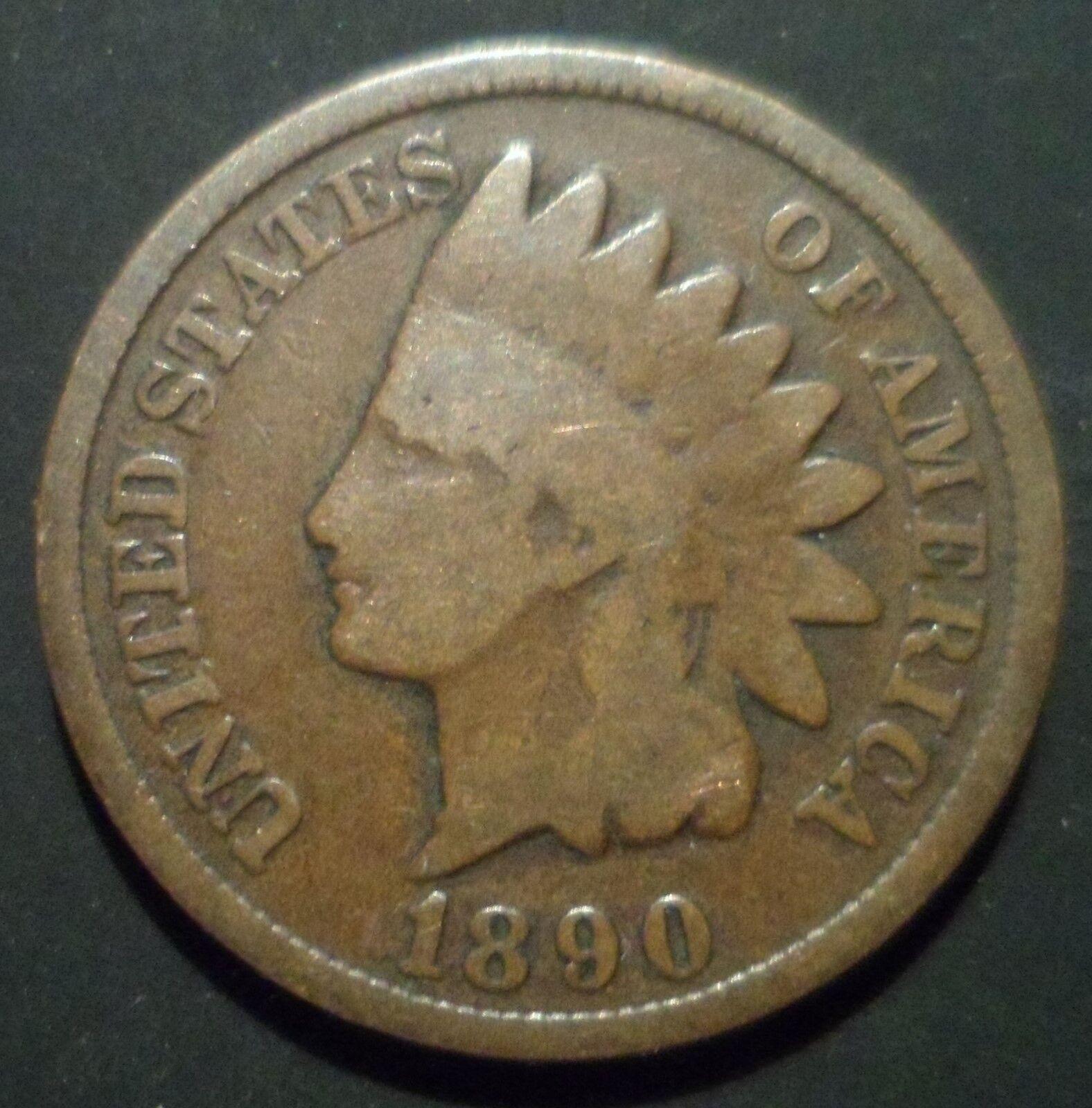 1890 Indian Head Cent Snow 1 S1 DDO QDO Quadruple Die Mint Error 3 Star A3 - $24.95