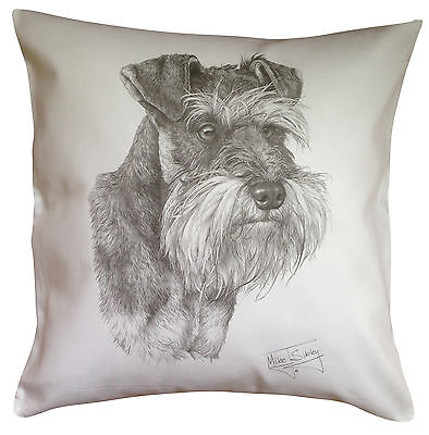 Schnauzer MS Breed of Dog Themed Cotton Cushion Cover - Perfect Gift