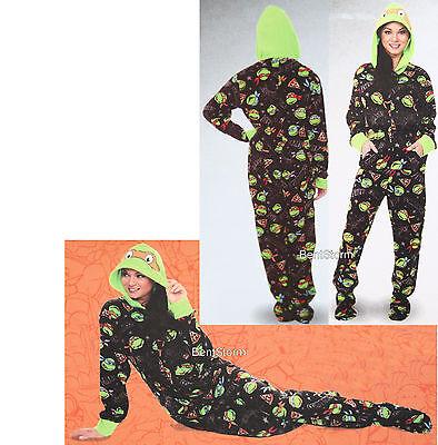 Teenage Mutant Ninja Turtles ADULT 1PC Costume PJS Fleece Hooded Footed Pajamas