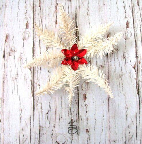 Antique German White Tinsel Star Tree Topper Rare 1920s Christmas Star