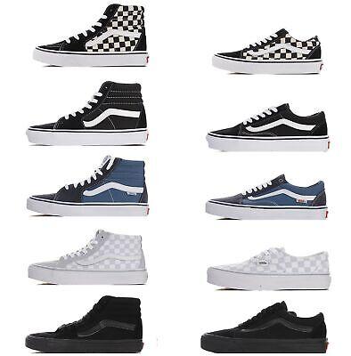 "Vans Sk8-Hi Reissue ""Pure Black"" classic high-top canvas casual sports sneakers"