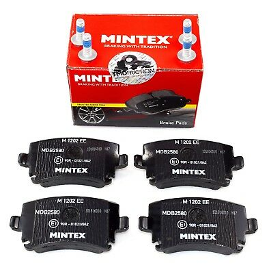MINTEX REAR AXLE BRAKE PADS FOR AUDI SKODA SEAT VW MDB2580 (REAL IMAGE OF PART)