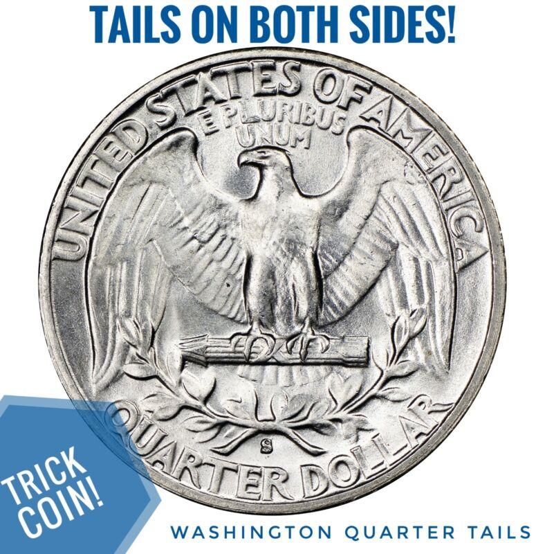 Two Sided Tails 1932 Quarter Two Face Trick Double Tails Coin