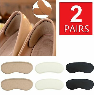 2 Pairs Soft Fabric Shoe Pads Cushion Liner Grip Back Heel Inserts Insoles Clothing & Shoe Care