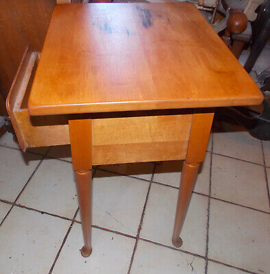 Mid Century Maple Nightstand / Side Table - $299.00