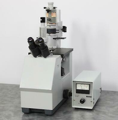 Zeiss Im Inverted Microscope With Transillumination Lamp Power Supply
