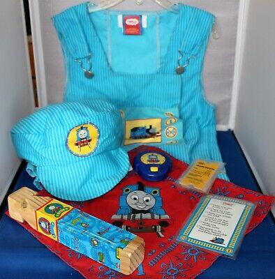 THOMAS THE TANK ENGINE & FRIENDS PLAY COSTUME VEST CAP KERCHIEF WHISTLE +3 ITEMS](Thomas The Engine Costume)