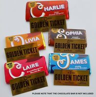 Wanted Graphic Designer for Custom Wonka bar + golden ticket