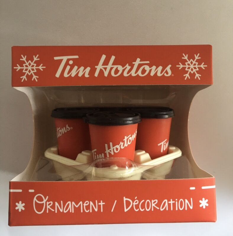 TIM HORTONS To Go Coffee Cups In Carry Out Tray 2018 Christmas Tree Ornament