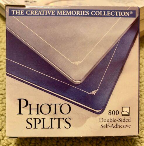New CREATIVE MEMORIES Photo Splits Double Sided Adhesive NIB 800 FREE SHIPPING