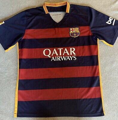 f3b071ea1b2 Lionel Messi FCB Barcelona Men's M Soccer Jersey Nike 2014 #10 DRI-FIT  Authentic
