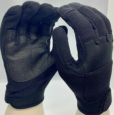 Mechanics Work Gloves Synthetic Leather Back Spandex Washable  L Xl