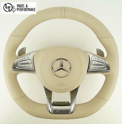 LE TEF Lenkrad Lenkradheizung Beige für S-Klasse W222 S63 S500 Mercedes-Benz AMG