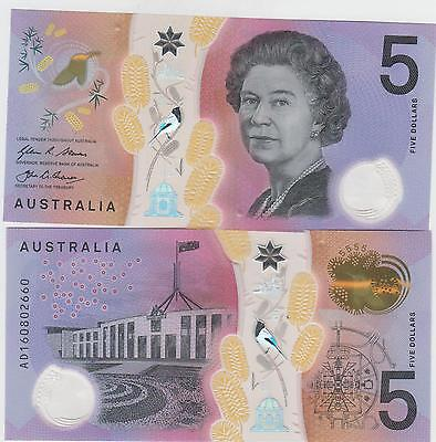 Australia Paper Money  5 Just Issued  Unc   Great Looking Notes   One Note