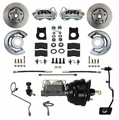67 68 69 Mustang Cougar Comet FRONT DISC BRAKE CONVERSION- POWER- for man trans