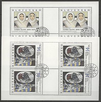 Gemälde - Slowakei - 211-212 KB gestempelt used 1994