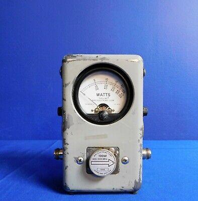 Bird Electronics 43 Rf Directional Wattmeter W Element 10w 100w 500w Untested