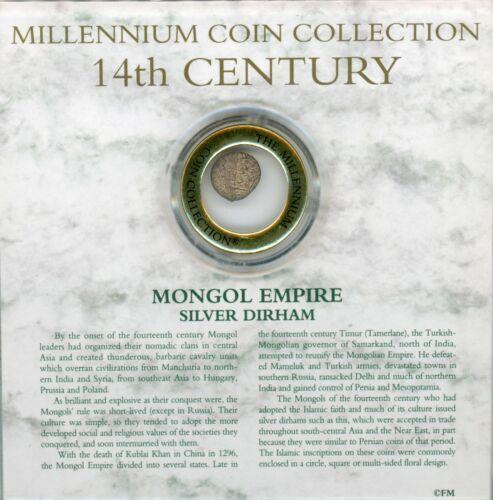 Millennium Coin Collection Mongol Empire Silver Dirham 14th Century Coin JG107