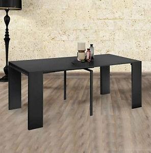 Tavolo consolle allungabile fino a 3mt nero lucido ebay for Tavolo allungabile nero