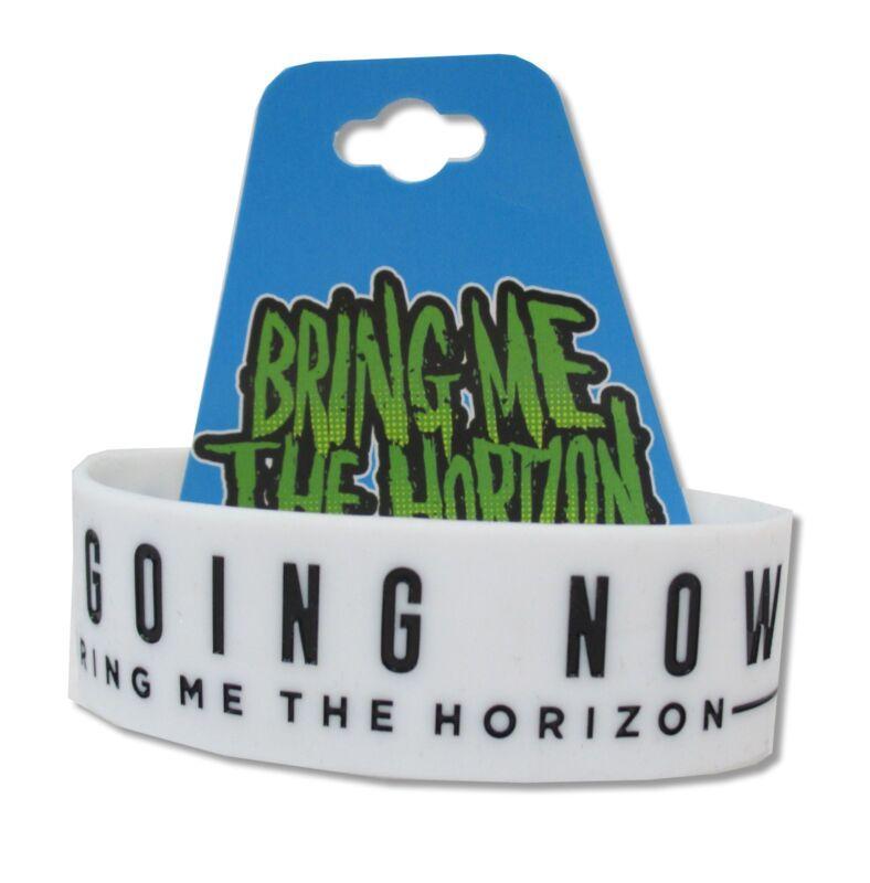 Bring Me The Horizon Going Nowhere White Silicone Wristband New NWT