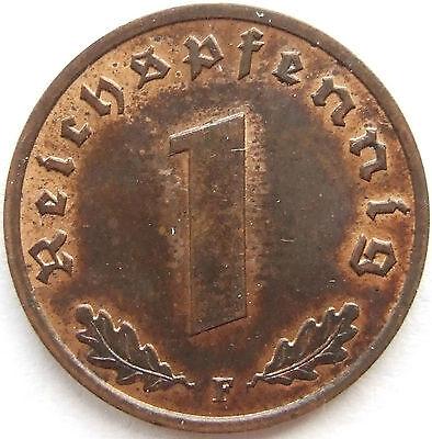 TOP! 1 Pf 1936 F in fast STEMPELGLANZ SEHR SELTEN !!!
