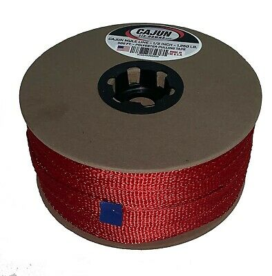 Cajun Mule Line - 58 Inch Red - 1500 Lb. - Pull Tape - Polyester Pulling Tape