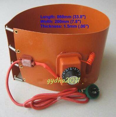240v 800w 20l 5.5 Gallon Silicon Band Metal Oil Biodiesel Bucket Barrel Heater