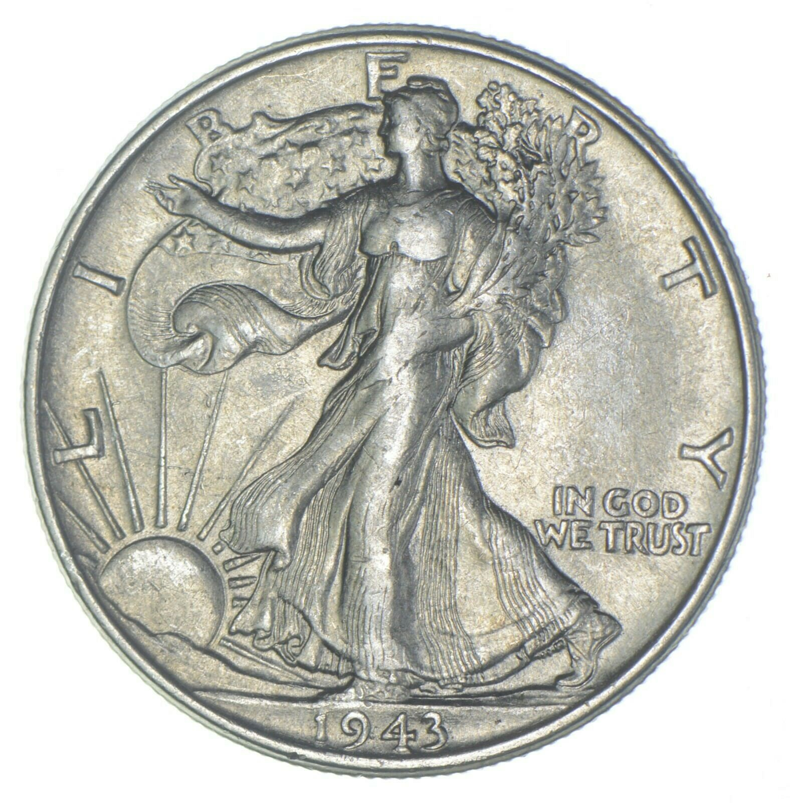 AU/Unc - 1943 Walking Liberty Silver Half Dollar - Better 126 - $0.06