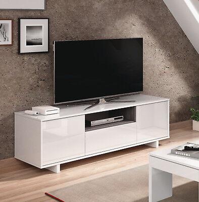 Mesa baja de television blanca 3 puertas mesa multimedia TV fabricada en...