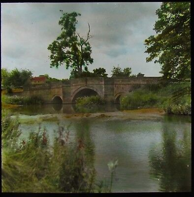 Glass Magic Lantern Slide NUNNINGTON BRIDGE DATED 1938 YORKSHIRE