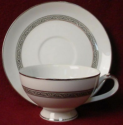 MIKASA china MANOR HOUSE 5433 pattern Cup & Saucer China Manor House
