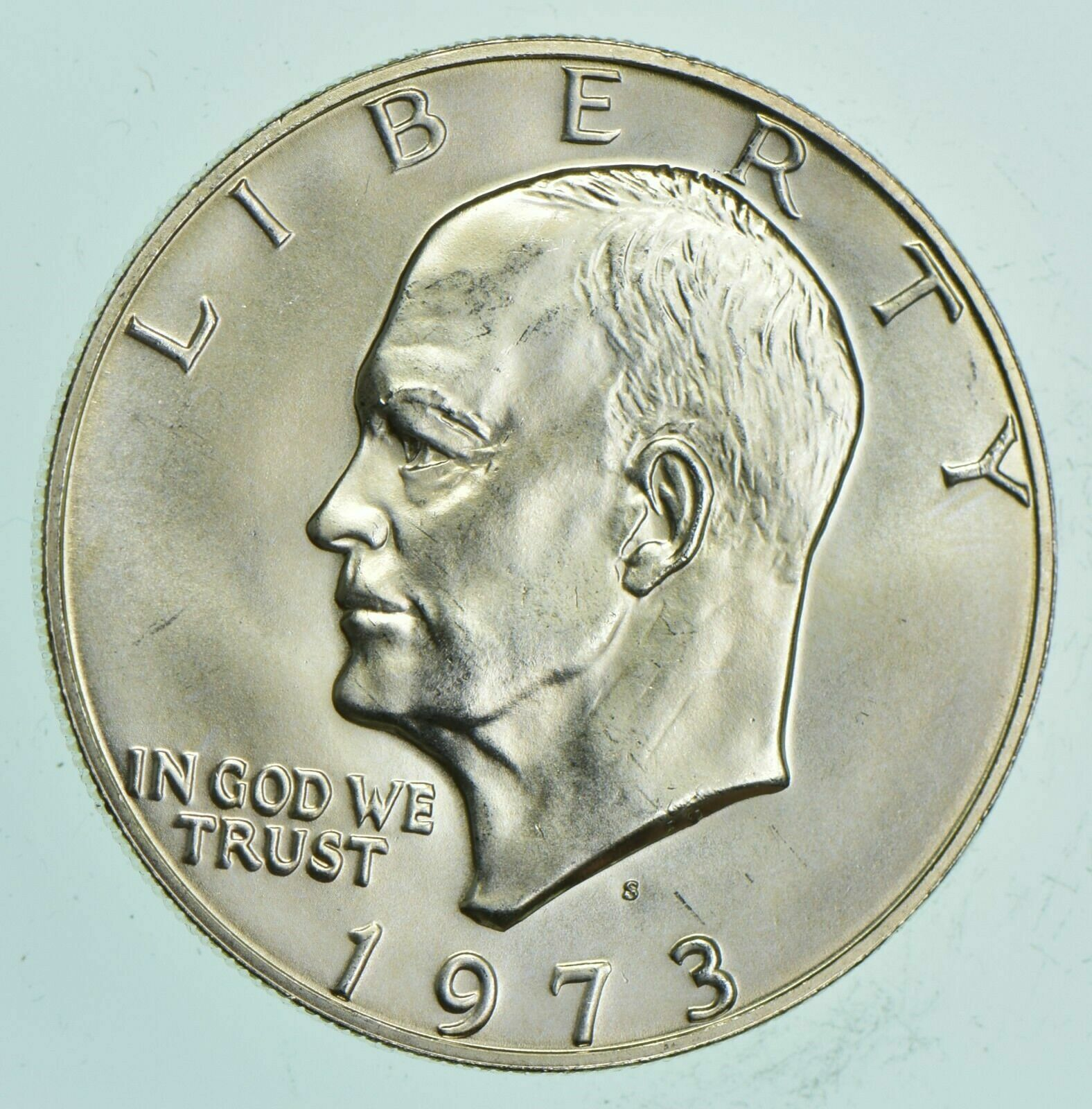 Best  SPECIALLY MINTED S MINT MARK - 1973-S - 40% EISENHOWER SILVER DOLLAR - RARE