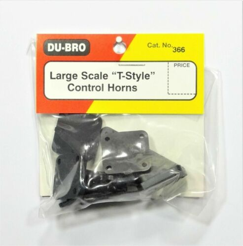 """Dubro 366 Large Scale """"T-Style"""" Control Horns - Brand New! US Seller!"""